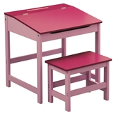 Picture of Girl's Pinks Desk And Stool