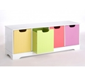 Picture of Kids 4 Drawer MDF Storage Unit & Seat