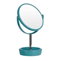 Picture of Vivid Turquoise Plastic Swivel Table Mirror