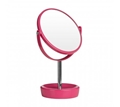 Picture of Vibrant Hot Pink Plastic Swivel Table Mirror