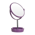 Picture of Vivid Purple Plastic Swivel Table Mirror