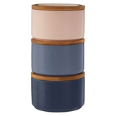 Picture of Blue Dusky Pink Fenwick Storage Canisters
