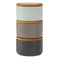 Picture of Grey Pale Blue Fenwick Storage Canisters