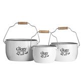 Picture of La Cuisine De Mere Set Of 3 Storage Pots