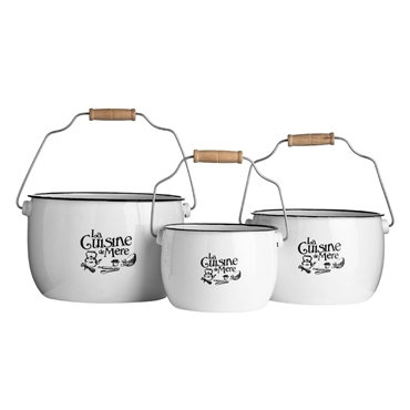 Picture of La Cuisine De Mere Set Of 3 Storage Pots