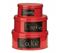 Picture of Red Clifton Set Of 3 Storage Tin