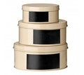 Picture of Cream Clifton Set Of 3 Storage Tins