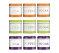 Picture of Orange, Green or Purple  Tea, Coffee And Sugar Set