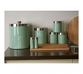 Picture of Pistachio Enamel Liberty Canisters - Set of 3