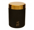 Picture of Liberty Black Enamel Finish Tea Canister