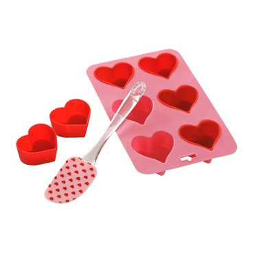 Picture of 8Pc Heart Baking Set