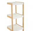 Picture of Nostra Four Tiers White / Bamboo Shelf Unit