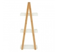 Picture of Nostra Three Tiers White / Bamboo Shelf Unit