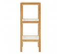 Picture of Nostra Three Tiers White / Natural Shelf Unit