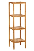 Picture of Natural Walnut 4 Tier Shelf Unit