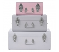 Picture of Set of 3 Assorted Colors Storage Trunks
