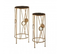 Picture of Faiza Set of 2 Round Flower and Plant Stands