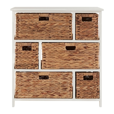 Picture of Padstow 6 Drawer White Frame Storage Unit