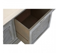 Picture of Heritage 3 Drawer Slate Grey Storage Bench