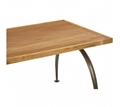 Picture of New Foundry Dining Table with Elm Wood Top