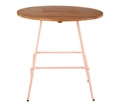 Picture of District Pink Metal & Elm Wood Round Table