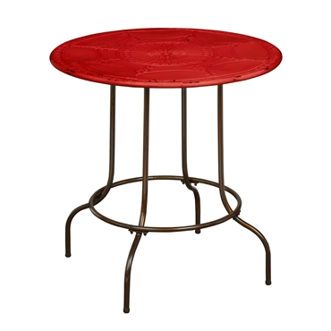 Picture of Artisan Red Metal Table